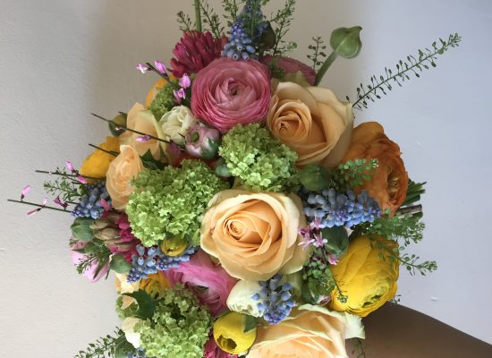 Spring bridal bouquet, wedding flowers buckinghamshire