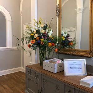 wedding venue flowers, marlow