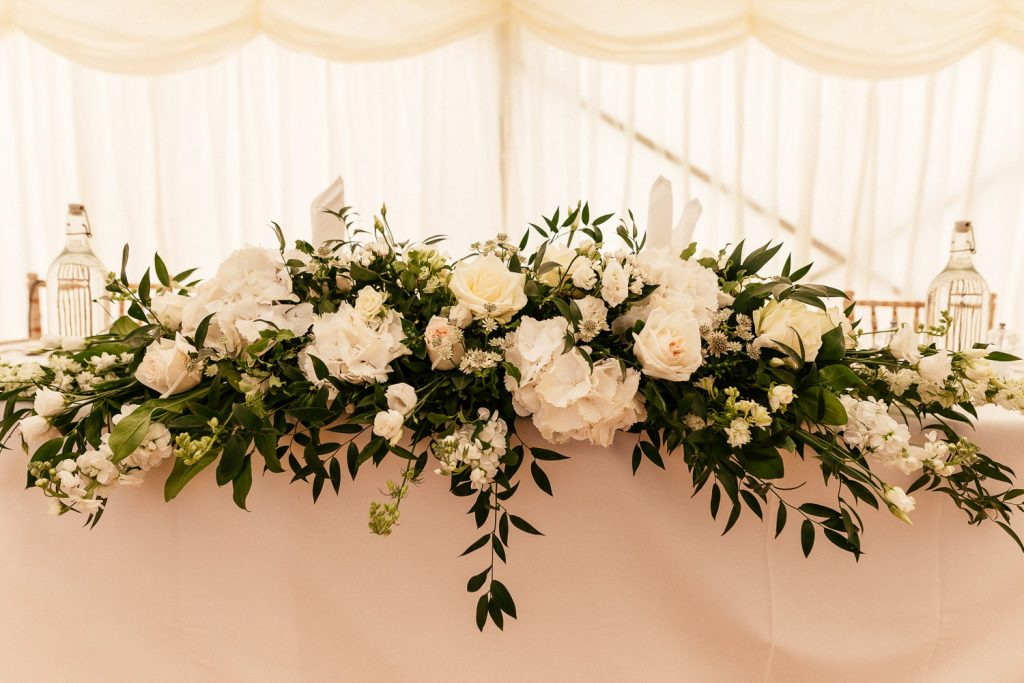 top table floral display
