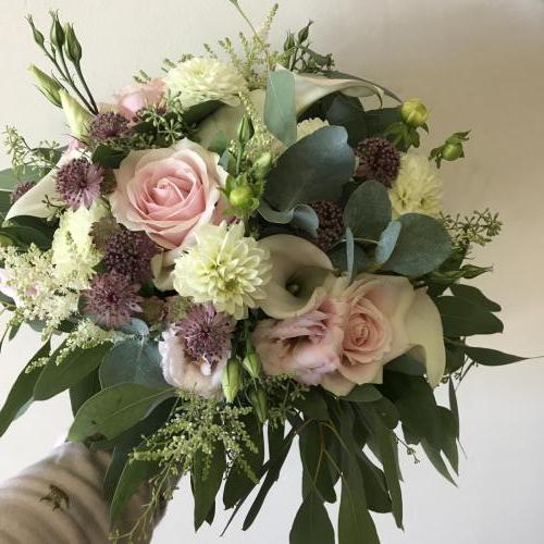 Blush Pink and Calla Lily Brides Bouquet