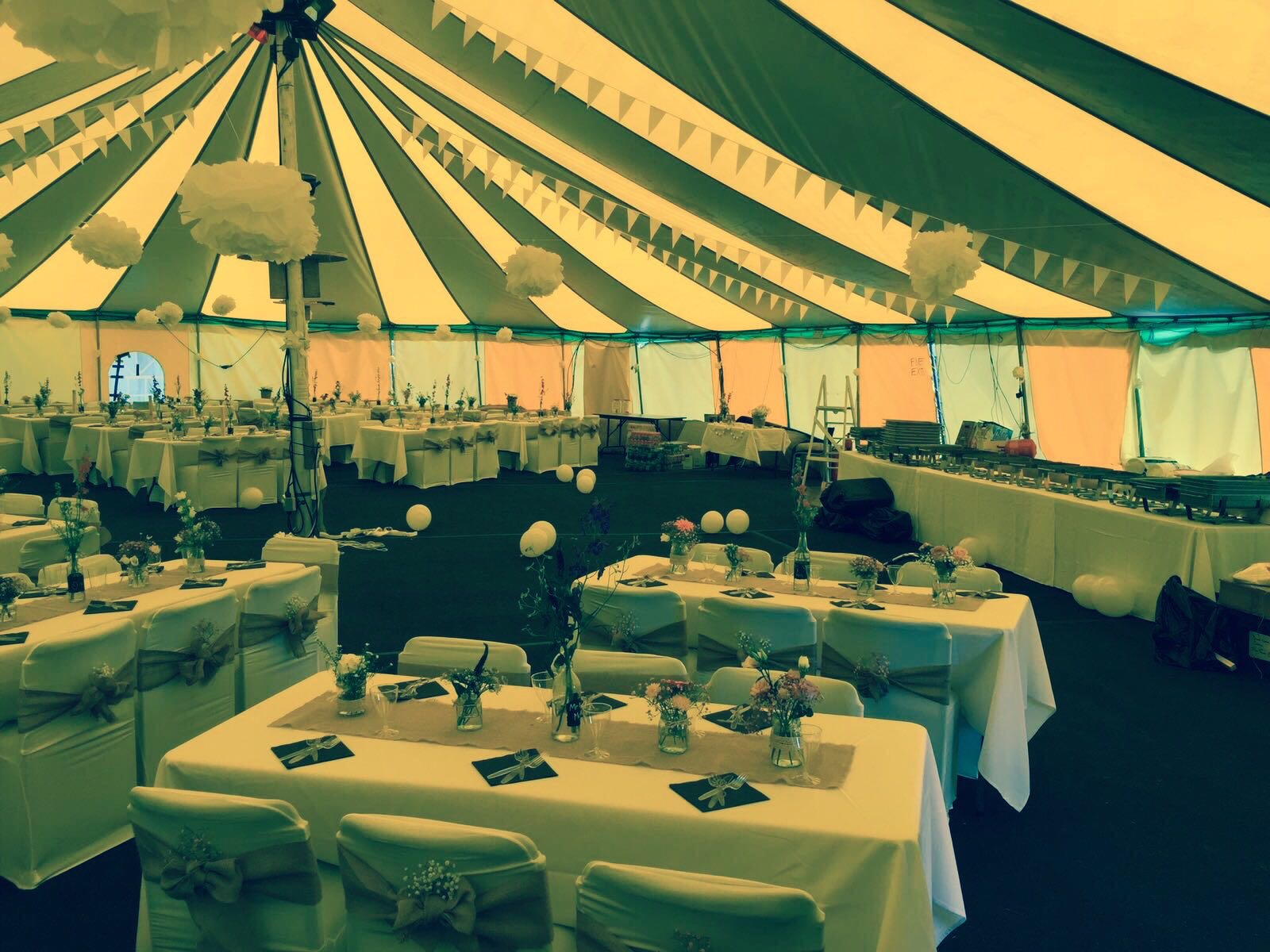 circus tent dressed with flowers