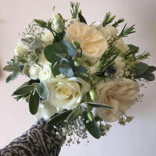 White Flowers and foliage wedding