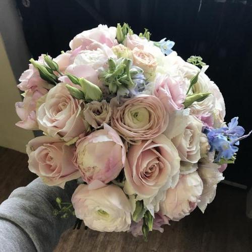 Modern all flower brides bouquet