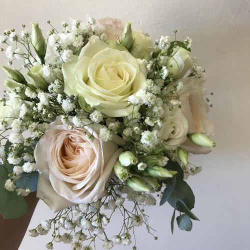 Bridesmaids Bouquet with Gypsophila and roses