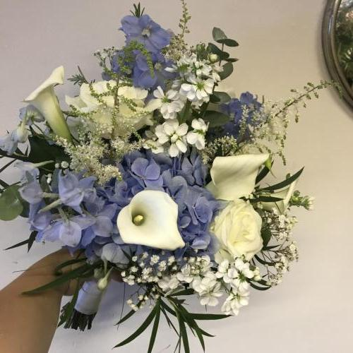 Blue and White Textured Bouquet