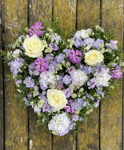 Lilac & White Heart